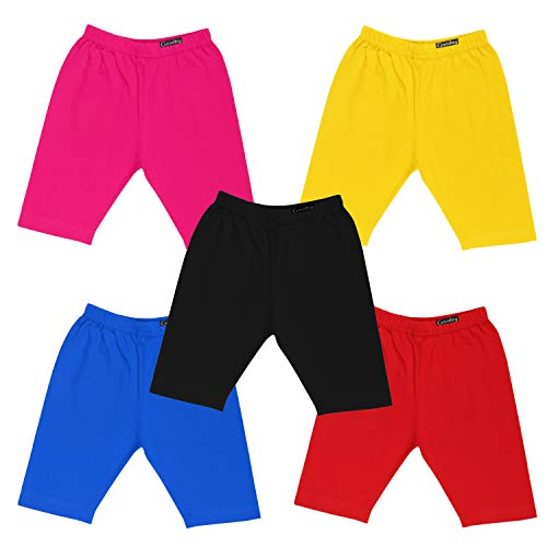 GOODTRY Girls Cotton Cycling Shorts Pack of 5-Multicolor 2