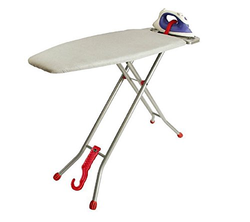 Ironmatik Original Space Saver Ironing Board - 44' X 15' Usage Area (Board Lenght 35') - Full Lenght 62' - Adjustable Height, Easy Storage, Heat Resistant Silicone Tray, Padded Top