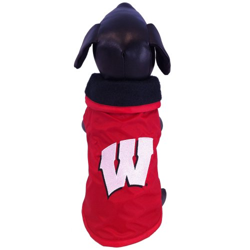 All Star Dogs NCAA Wisconsin Badgers Collegiate Outerwear Dog Coat 1