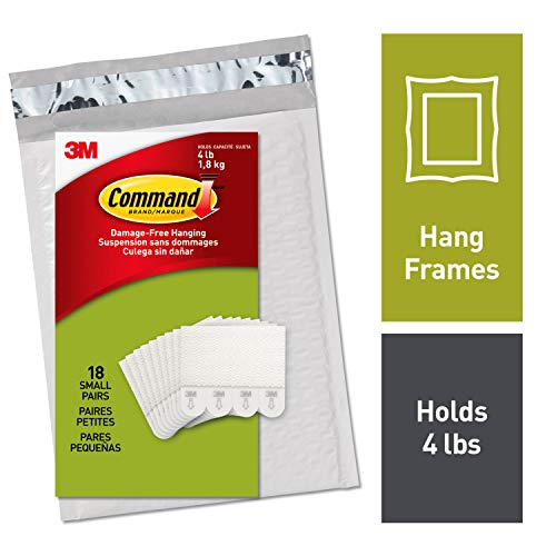 Command by 3M Picture Frame Hangers, White, No Tools or Holes, 18 Pairs, Gallery Wall Pack