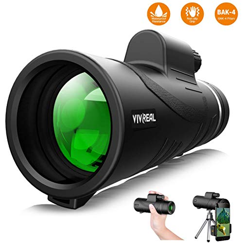 Monocular Telescope, 12X50 High Power & HD Monocular with Universal Smartphone Holder - [Upgrade] Dual Focus Optics Scope, Waterproof Scope, BAK4 Prism FMC for Bird Watching, Hunting, Camping, Hiking