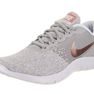 Nike Women Flex Contact Wolf Grey/Metallic Rose Gold 8.5 B M Running Shoe