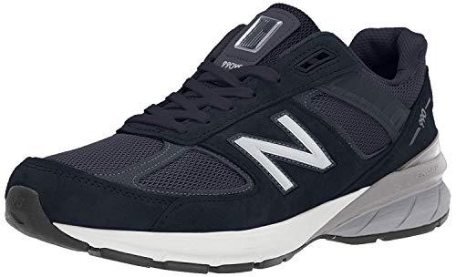 New Balance Men's 990v5 Sneaker, Navy/Silver, 12 W US