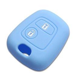 Housse-silicone-pour-cle-peugeot-106-206-306bleue-etui-de-protection-coque-telecommande-pro-plip