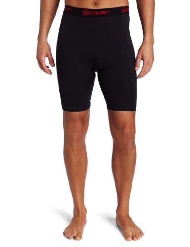 Canari Cyclewear Men's M Gel Cycle Liner Padded Cycling Short (Black, Large)