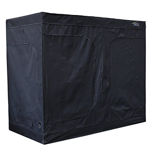 iPower 96'x48'x80' Hydroponic Water-Resistant Grow Tent with Removable Floor Tray for Indoor Seedling Plant Growing 4'x8'