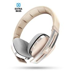 Boult Audio ProBass Stella Over-Ear Wireless Bluetooth Headphones with Mic & Noise Cancellation, Headset with Long Battery Life (Beige)