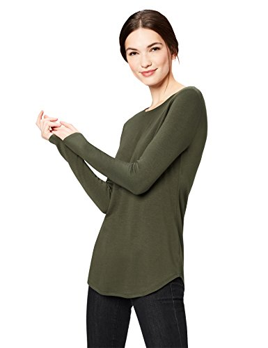 This long-sleeve tee is your next closet essential featuring a crewneck, set-in shoulder seams, and a drop-tail hem Supersoft Terry offers incredible comfort with rich rayon fibers and a gently brushed back Start every outfit with Daily Ritual's range of elevated basics