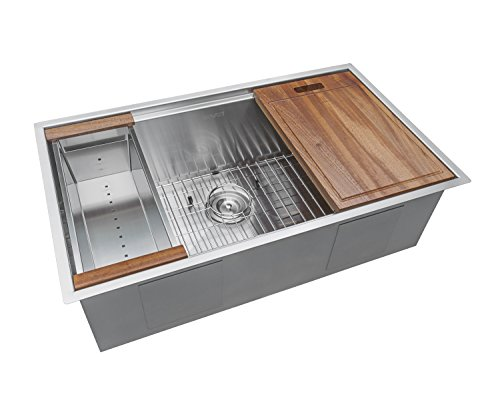 Ruvati RVH8300 Undermount Ledge 16 Gauge 32″ Kitchen Sink Single Bowl