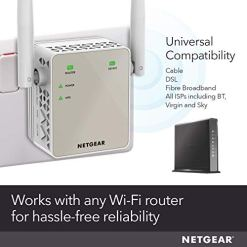 41TxvqclqZL - NETGEAR Wifi Range Extender EX6120 - Coverage up to 1200 sq.ft. and 20 devices with AC1200 Dual Band Wireless Signal Booster/Repeater (up to 1200 Mbps) and Compact Wall Plug Design with UK Plug