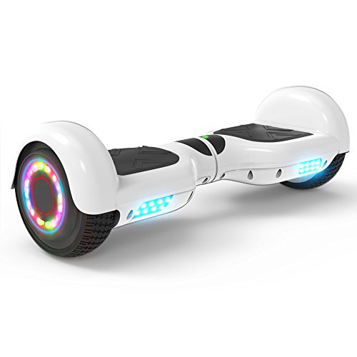Hoverheart Hoverboard 6.5' UL 2272 Listed Two-Wheel Self Balancing Electric Scooter with Bluetooth Speaker (White)