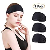 MOSTEP Women Non-Slip Stretchy Headband, Moisture Wicking and Breathable Sport Sweatband| Fashion Athletic Headband for Yoga, Running, Workout, Cycling, Cross fit for Women& Girl