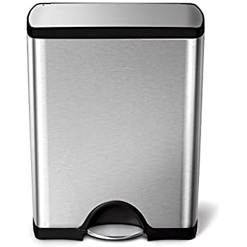 Tramontina-13-Gal-Step-Trash-Can,-Stainless-Steel