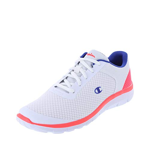 Champion White Coral Blue Women's Gusto Performance Cross Trainer 6.5 Regular