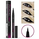 Eyeliner- Best Cruelty Free Waterproof Liquid Eye liner Pen -NON Toxic Formula - ALL DAY WEAR - Gel Felt Tip High Pigment - Winged, Cat Eye, Smudge, Tear Proof Makeup- No Stamp, No Pencil Sharpener