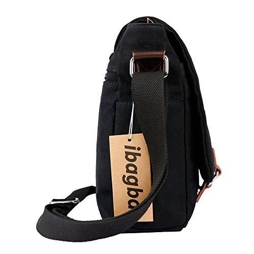 35da19ccb0 ibagbar Canvas Messenger Bag Shoulder Bag Laptop Bag Computer Bag Satchel Bag  Bookbag School Bag Working Bag for Men and Women