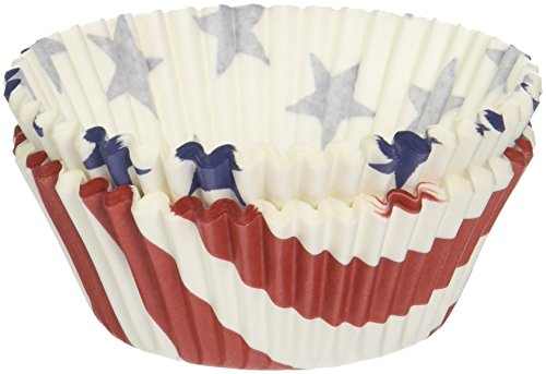 Fox Run Stars & Stripes Baking Cups, Standard Size, 50 Cups