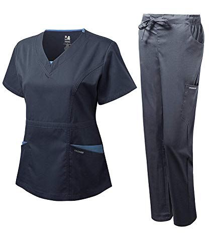 Dagacci Medical Uniform Girls's Scrubs Set Stretch Break up Distinction Internet and Pocket (Medium, Navy) deal 50% off 41UDnp2SaNL