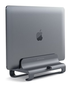 Satechi Universal Vertical Aluminum Laptop Stand - Compatible with MacBook, MacBook Pro, Dell XPS, Lenovo Yoga, Asus Zenbook, Samsung Notebook and More (Space Gray)