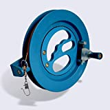 Glow Castle Professional outdoor kite string flight tool winder handle of the scroll wheel lock-Blue (6.2in)