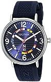 Nautica N83 Men's NAPWGS908 Wave Garden Blue/Silver Silicone Strap Watch