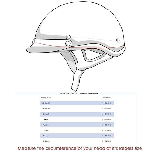 Outlaw T-70 'Black Eagle Flag' Half Face Helmet with Drop Down Tinted Visor - Large