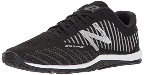 New Balance Men's 20v7 Minimus Training Shoe, Black/White, 11.5 2E US