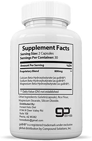 Honest Keto Diet Pills for Weight Loss - Helps Block Carbohydrates - Weight Loss Supplement for Women & Men - Burn Fat Instead of Carbs - BHB Salts - 60 Capsules 4