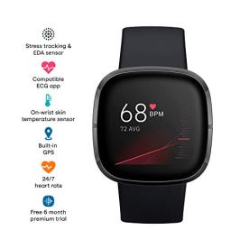 Fitbit Sense Advanced Smartwatch with Tools for Heart
