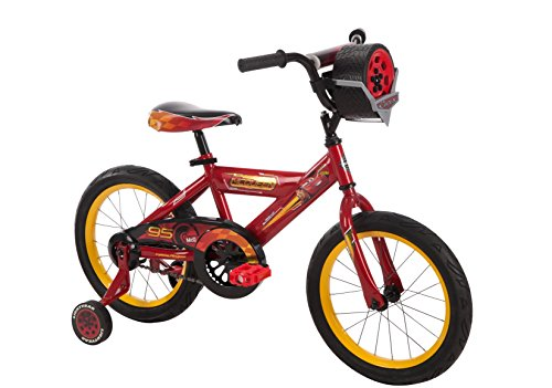 16' Disney•Pixar Cars Bike by Huffy, Ages 4-6, Height 42-48'