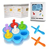 Silicone Egg Bites Molds for Instant Pot Accessories 7 Color Ice Cream Stick Baby Food Freezer Tray with Lid Reusable Storage Container Fits 5 6 8 qt Pressure Cooker Blue