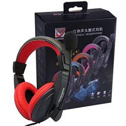 41UR2FGzGQL - XuBa Head-mounted Ergonomics Computer Stereo Gaming Headphone with Microphone Pink