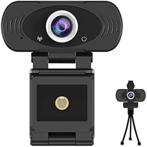 1080p Full HD USB Webcam with Built-in Microphone with Privacy Cover and Tripod,30fps Plug and Play Widescreen Live Streaming Web Computer Camera for PC Video Conferencing/Calling/Gaming…