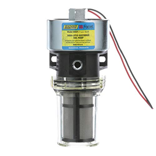 Seachoice 20331 Dura-Lift Electronic Fuel Pump, Solid State Construction, 120 Inches Lift, 11.5-9 PSI, 33 GPH