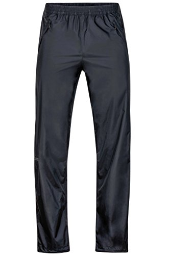 Marmot Men's Precip Full Zip Pant Black Large 34