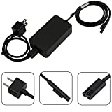 Surface Pro Surface Laptop Charger, 44W 15V 2.58A UL Listed Power Supply Compatible Microsoft Surface Pro 6 Pro 5 Pro 4 Surface Laptop 2 & Surface Go with 5V 1A USB Charging Port