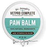 100% Natural Vet Formulated Paw and Nose Balm Wax for Dogs and Cats with Vitamin E and Aloe. Heals, Soothes, and Protects Cracked and Dry Paws and Noses. Made in USA