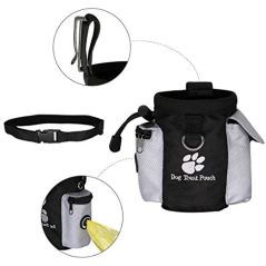 Dog-Snack-Bag-Training-Bag-with-Adjustable-Waist-Belt-Collapsible-Bowl-and-Built-in-Poop-Bag-DispenserEasily-Carries-Pet-Toys-Kibble-TreatsKeys-etc-Easily-Access-to-Rewards