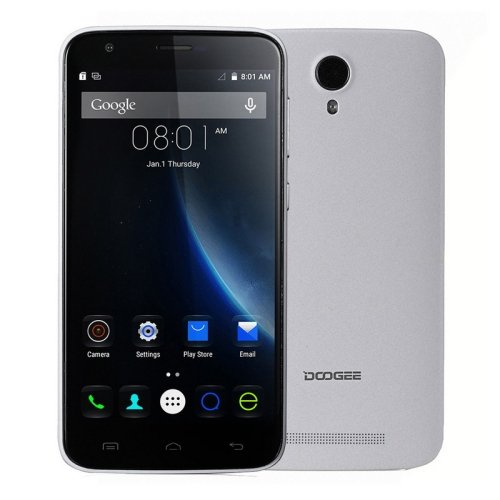 DOOGEE Valencia 2 Y100 Plus 5.5 Inch Android OS 5.1 Unlocked Smartphone, MT6735 Quad Core 1.0GHz, 2GB RAM + 16GB ROM GSM & WCDMA & FDD-LTE (White)
