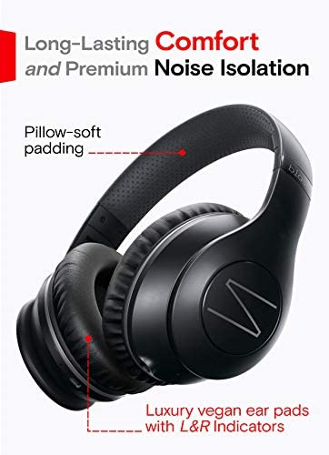 Symphonized Blast Wireless Bluetooth Headphones with Mic, Over Ear Headphones for iPhone, Samsung and More, 22 Playtime Hours for Travel/Work, Deep Bass Headphones with Noise Isolation (Black) 14