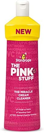Stardrops - The Pink Stuff - Ultimate Bundle - The Miracle Cleaning Paste, Multi-Purpose Spray, Cream Cleaner, Bathroom Spray (1 Cleaning Paste, 1 Multi-Purpose Spray, 1 Cream Cleaner, 1 Bathroom)
