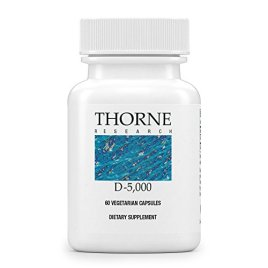 Thorne Research – Vitamin D-5000 – Vitamin D3 Supplement (5,000 IU) for Healthy Bones and Muscles- NSF Certified for Sport – 60 Capsules