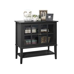 Ameriwood Home Franklin 2 Door Storage Cabinet, Black