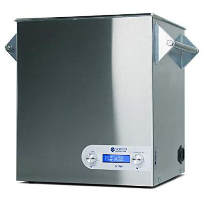 Shield-Ultrasonic-Professional-Ultrasonic-Cleaner-and-Parts-Cleaner-Stainless-Steel-Heating-Digital-25kHZ-740-gallons28-Liters-for-Dental-Jewelry-Firearms-Car-Parts-and-More