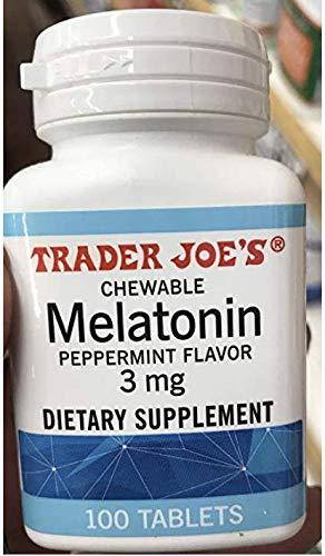 Trader Joe's Chewable Melatonin Pepermint Flavor 3mg (pack of 1)