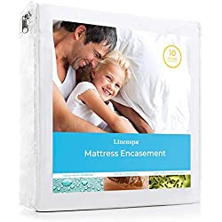LINENSPA Zippered Encasement Waterproof, Dust Mite Proof, Bed Bug Proof, Hypoallergenic Breathable Mattress Protector - Twin Size