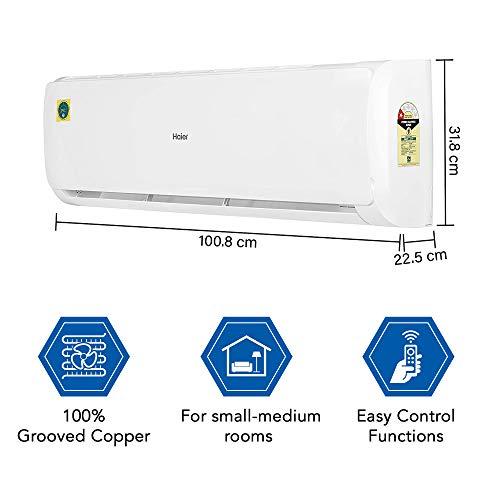 41UtQQN0pGL - Haier 2 Ton 1 Star Split AC (Copper, High Density Filter, 2020 Model, HSU22T-TFW1B, White)