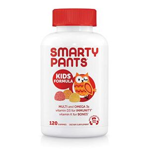 SmartyPants Kids Formula Daily Gummy Multivitamin: Vitamin C, D3, and Zinc for Immunity, Gluten Free, Omega 3 Fish Oil… 41UyX0DNYvL