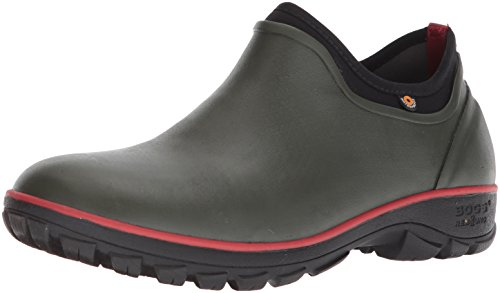 Bogs Men's Sauvie Slip On Soft Toe Rain Boot, Dark Green, 13 D(M) US