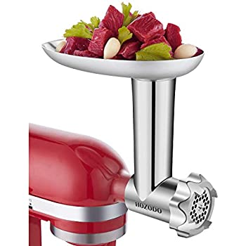 HOZODO Metal Food Meat Grinder Attachment Compatible with Kitchen Aid Stand Mixers